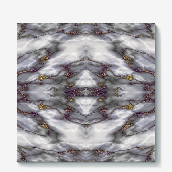 Холст «Серый мраморный абстрактный орнамент»