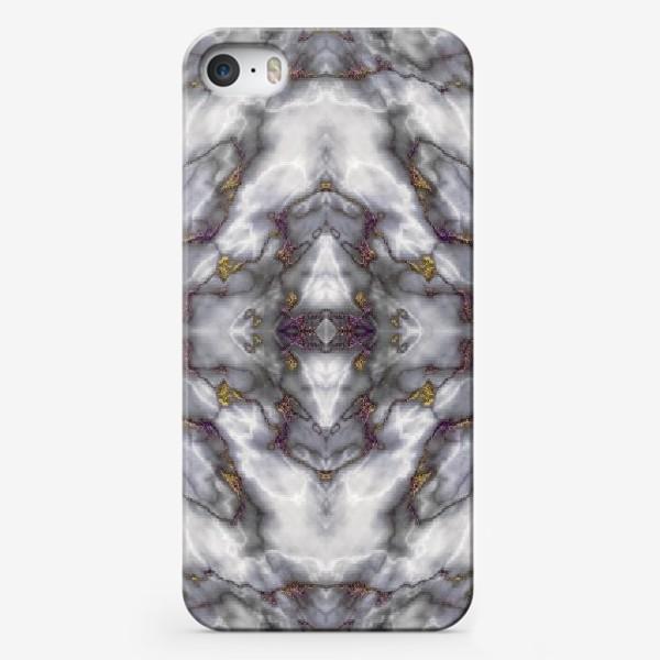 Чехол iPhone «Серый мраморный абстрактный орнамент»