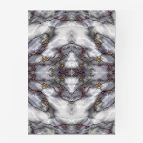 Постер «Серый мраморный абстрактный орнамент»