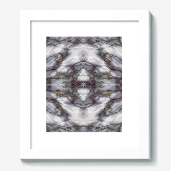 Картина «Серый мраморный абстрактный орнамент»