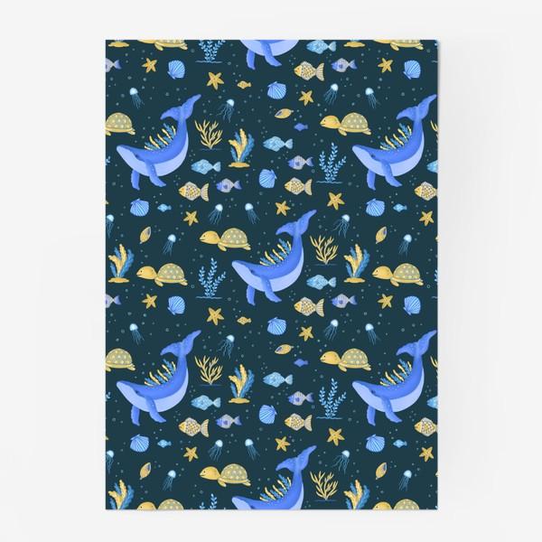 Постер «Подводный мир/Киты, черепашки, рыбки»