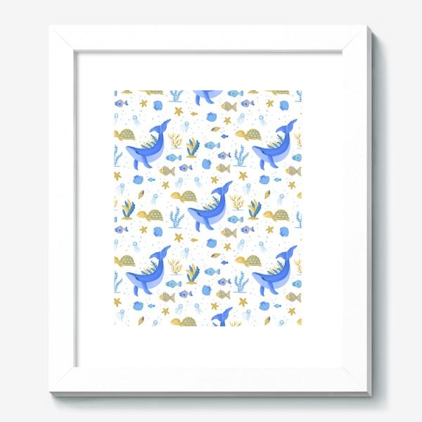 Картина «Подводный мир/Киты, черепашки, рыбки»