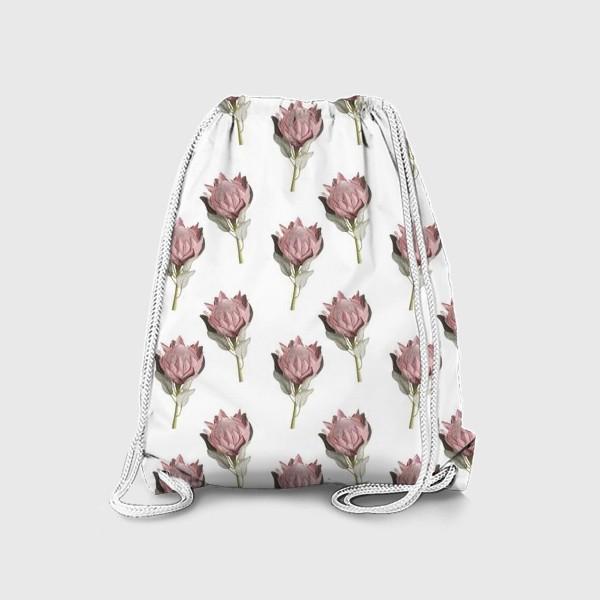 Рюкзак «Паттерн с цветами протеи»