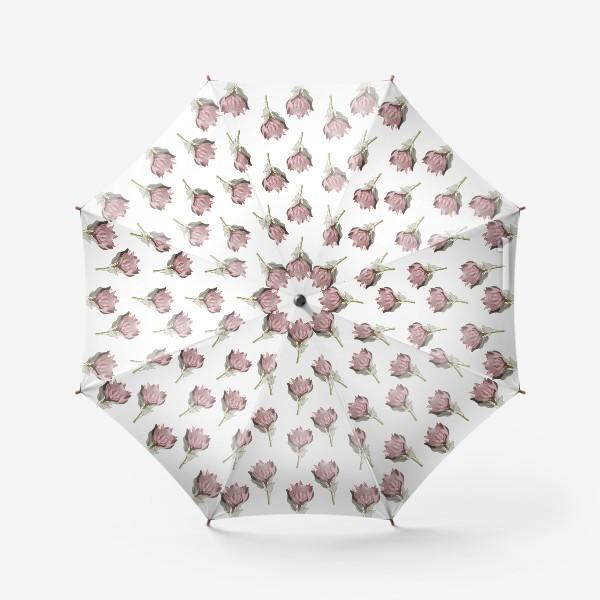 Зонт «Паттерн с цветами протеи»