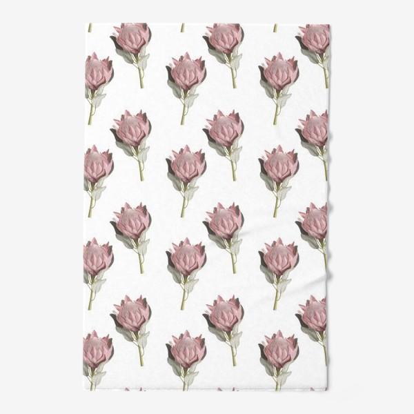 Полотенце «Паттерн с цветами протеи»