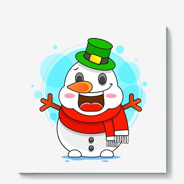 Холст «Снеговик»