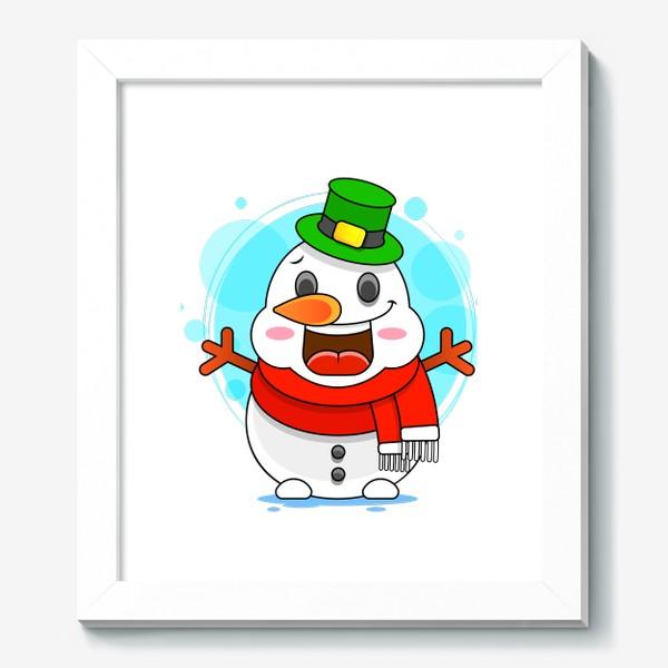 Картина «Снеговик»