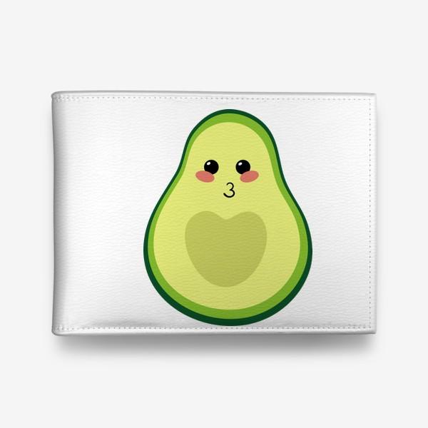 Кошелек «милый авокадо, смайлик, эмодзи, сердечко и поцелуй»