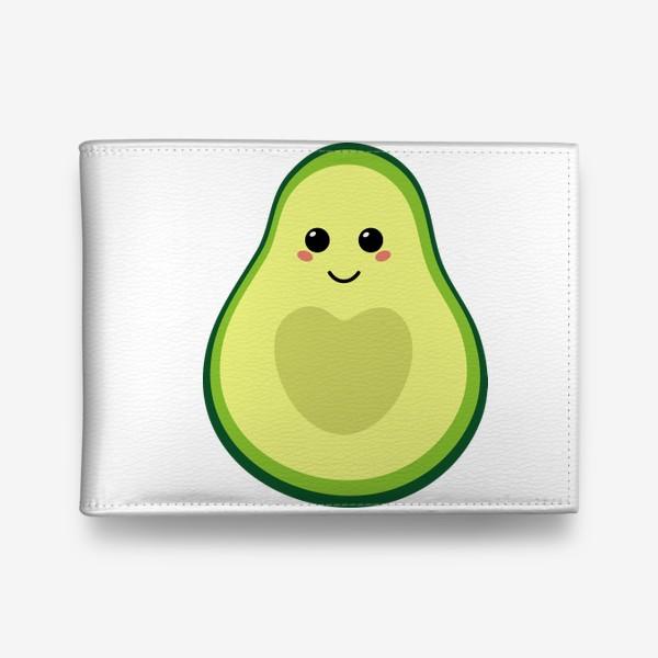 Кошелек «милый авокадо, смайлик, эмодзи, сердечко и улыбка»