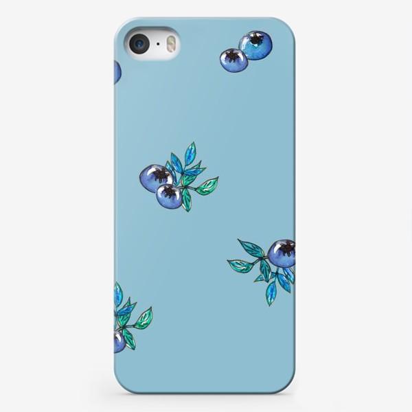 Чехол iPhone «Фон с россыпью голубики»