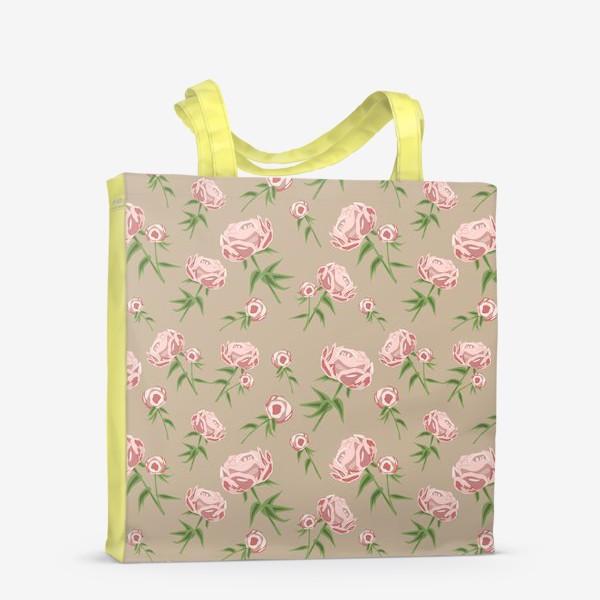 Сумка-шоппер «Нежные пионы»
