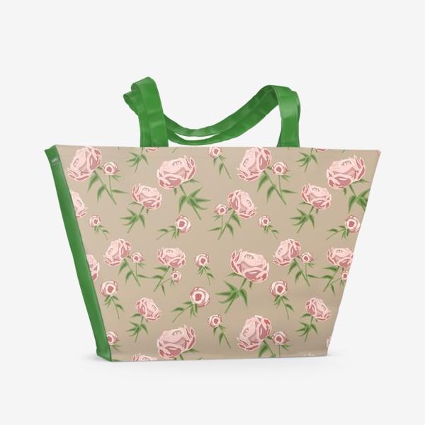 Пляжная сумка «Нежные пионы»