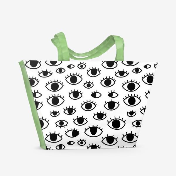 Пляжная сумка «Глаза»