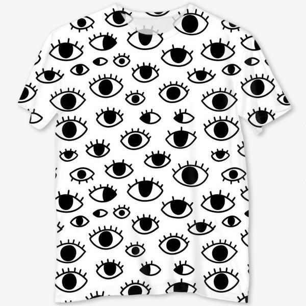 Футболка с полной запечаткой «Глаза»