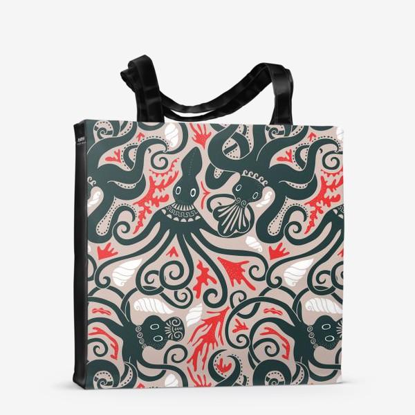Сумка-шоппер «Минойские греческие осьминоги»