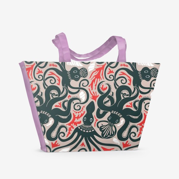 Пляжная сумка «Минойские греческие осьминоги»