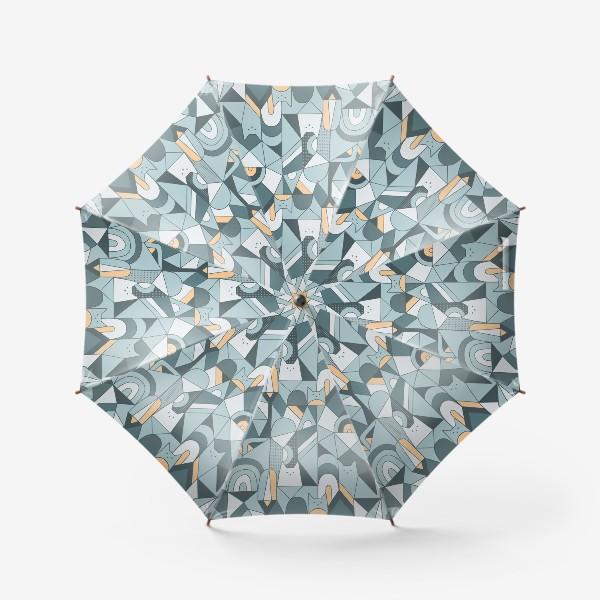 Зонт «Коты в геометрии»