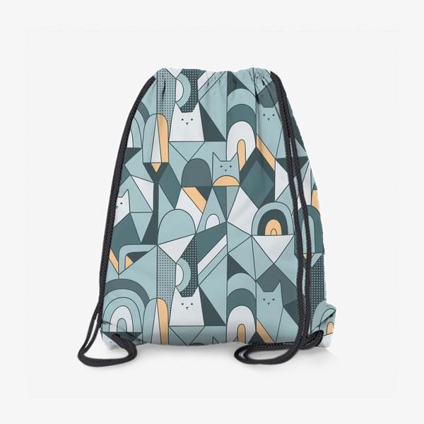 Рюкзак «Коты в геометрии»