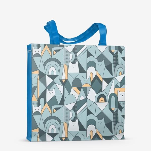 Сумка-шоппер «Коты в геометрии»