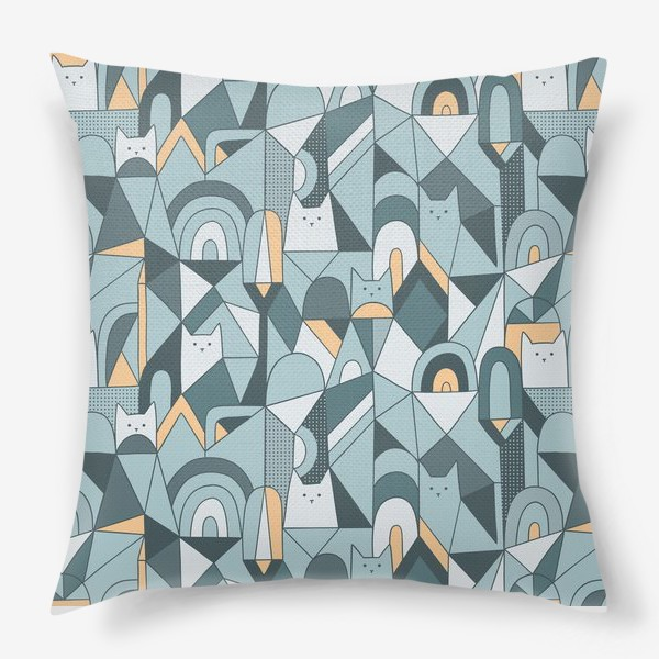 Подушка «Коты в геометрии»