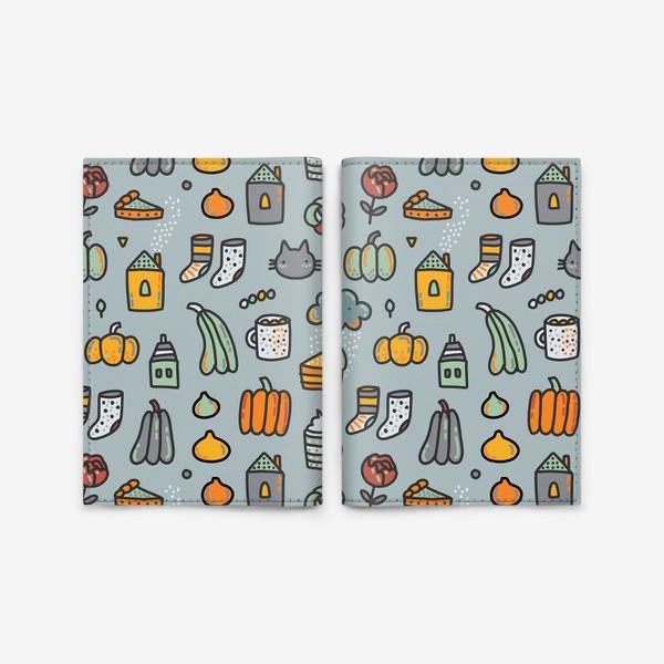 Обложка для паспорта «Уютная осень. Тыквы, коты, пироги, кофе  и какао»