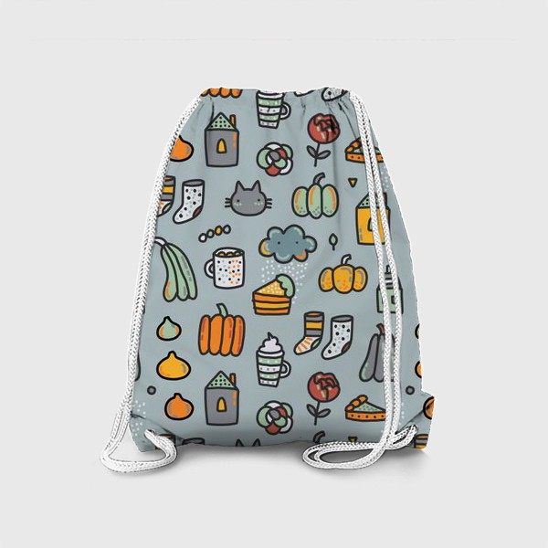 Рюкзак «Уютная осень. Тыквы, коты, пироги, кофе  и какао»