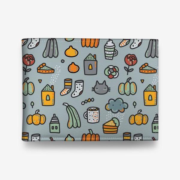 Кошелек «Уютная осень. Тыквы, коты, пироги, кофе  и какао»