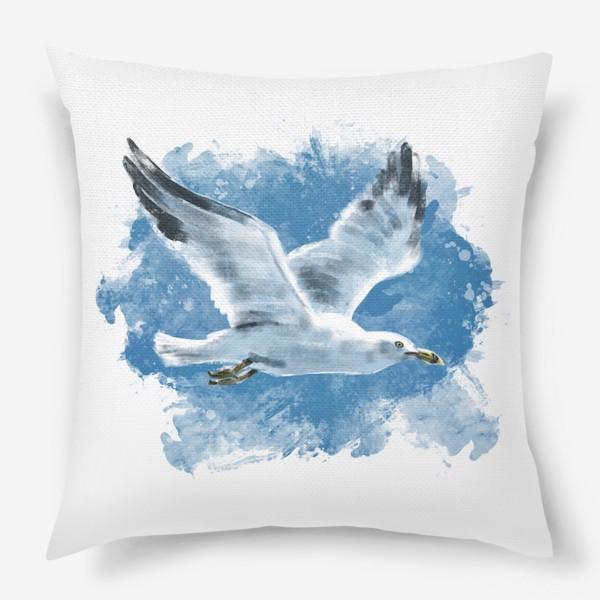 Подушка «Чайка в полете»