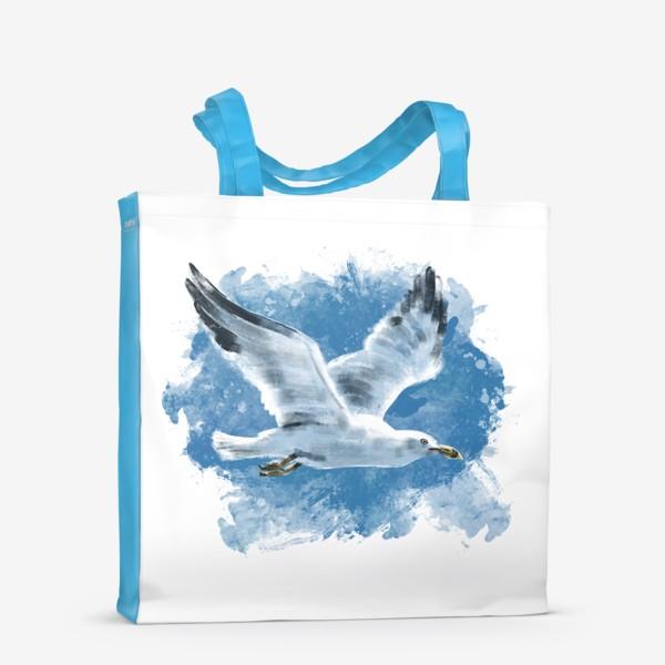 Сумка-шоппер «Чайка в полете»