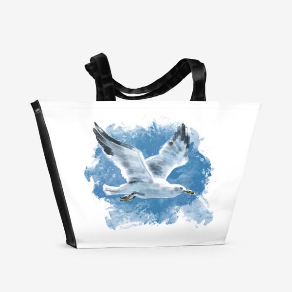 Пляжная сумка «Чайка в полете»
