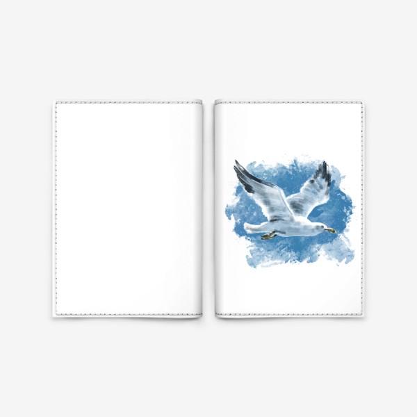 Обложка для паспорта «Чайка в полете»