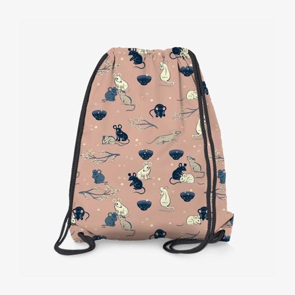 Рюкзак «МЫШИ В ЯПОНСКОМ СТИЛЕ »