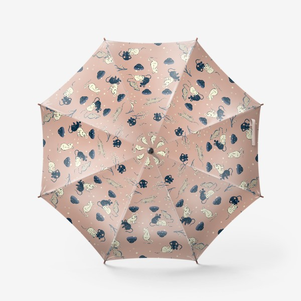 Зонт «МЫШИ В ЯПОНСКОМ СТИЛЕ »