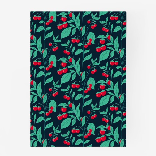 Постер «Паттерн помидорки черри»