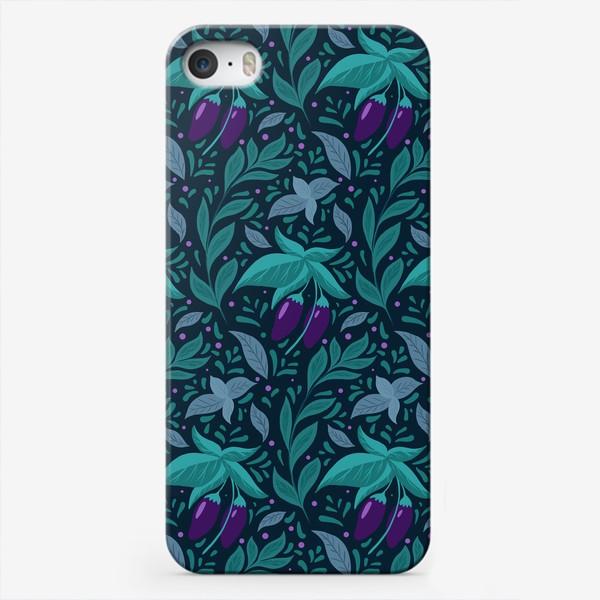 Чехол iPhone «Паттерн баклажаны »