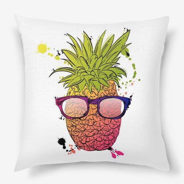 Подушка «Иллюстрация летнего ананаса»
