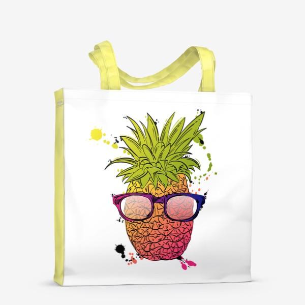 Сумка-шоппер «Иллюстрация летнего ананаса»