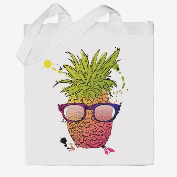 Сумка хб «Иллюстрация летнего ананаса»