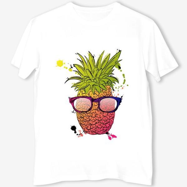 Футболка «Иллюстрация летнего ананаса»