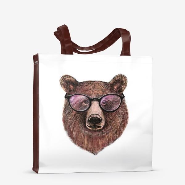 Сумка-шоппер «медведь в очках»