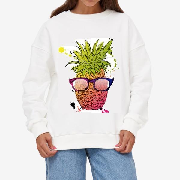 Свитшот «Иллюстрация летнего ананаса»