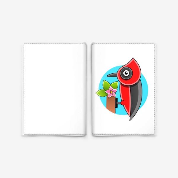 Обложка для паспорта «Дятел»