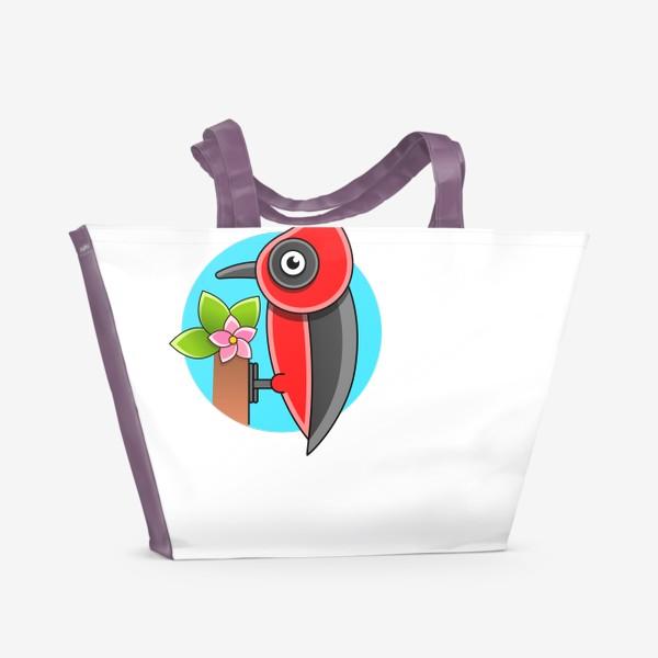 Пляжная сумка «Дятел»