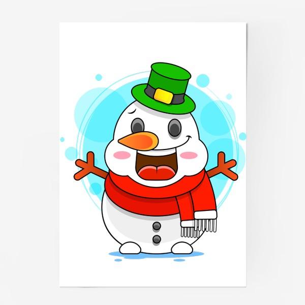 Постер «Снеговик»