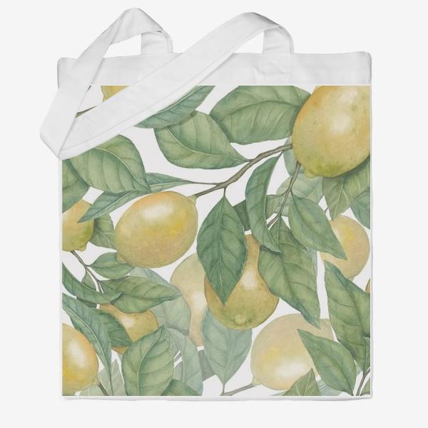 Сумка хб «Лимоны»