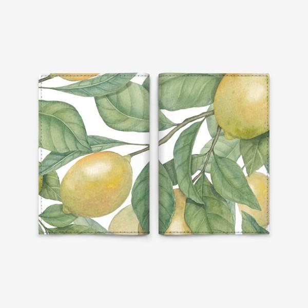 Обложка для паспорта «Лимоны»