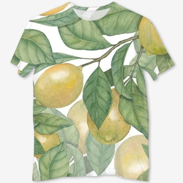 Футболка с полной запечаткой «Лимоны»