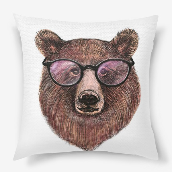 Подушка «медведь в очках»