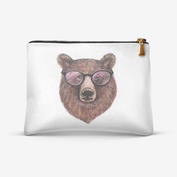 Косметичка «медведь в очках»