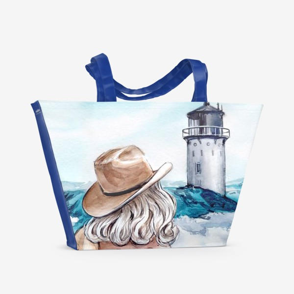 Пляжная сумка «между небом и землей»